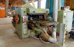 Old timber molding machine kept in Sunstate timber warehouse