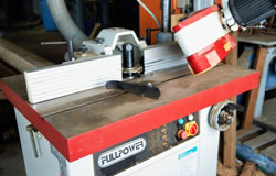 FullPower spindle shaper in timber workshop
