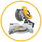 Image of an milling and grading machine with white background and yellow circular border